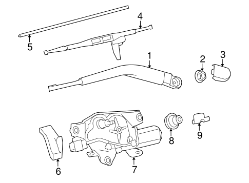 BODY/WIPER & WASHER COMPONENTS for 2011 Toyota Sequoia #2