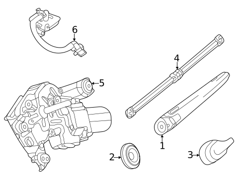 Wiper & Washer Components for 2020 Mercedes-Benz GLS 580 #1