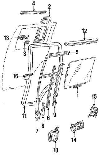 Oem 1993 Gmc Typhoon Rear Door Parts Gmpartsonline Net