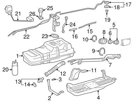 [SCHEMATICS_4HG]  Genuine OEM Fuel System Components Parts for 1999 Toyota 4Runner SR5 -  Olathe Toyota Parts Center | 1999 4runner Fuel Pump Wiring Diagram |  | Olathe Toyota Parts Center