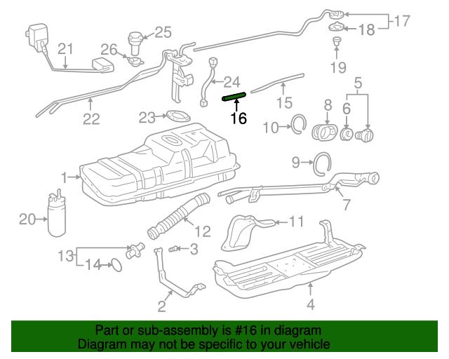 Genuine Toyota 77203-35461 Fuel Tube Sub-Assembly
