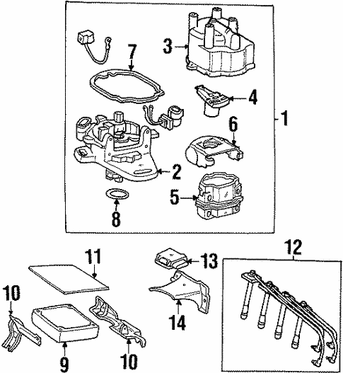 Genuine Oem Distributor Parts For 1995 Toyota Celica Gt