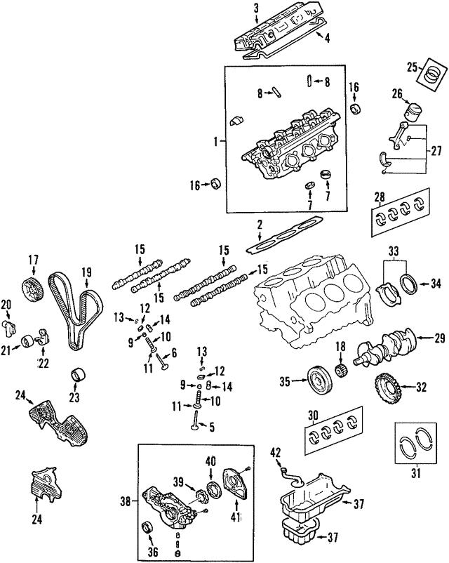 Genuine Hyundai 21030-35600 Crankshaft Thrust Bearing Set