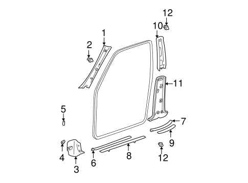 BODY/INTERIOR TRIM - PILLARS for 2004 Toyota RAV4 #1