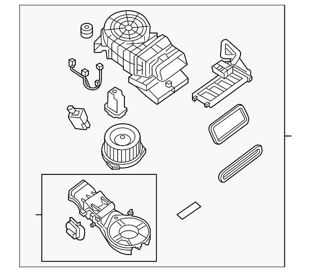 Genuine Nissan Blower Assembly 27413 3ka0a