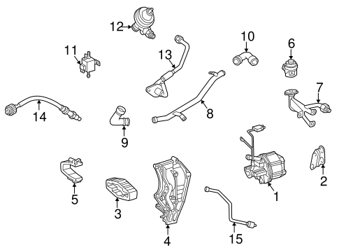 Emission Components for 1998 Mercedes-Benz C 230 #0