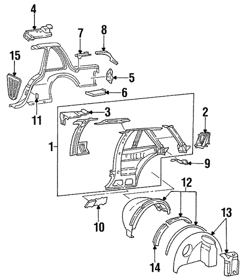 Inner Structure For 1997 Oldsmobile Cutlass Supreme