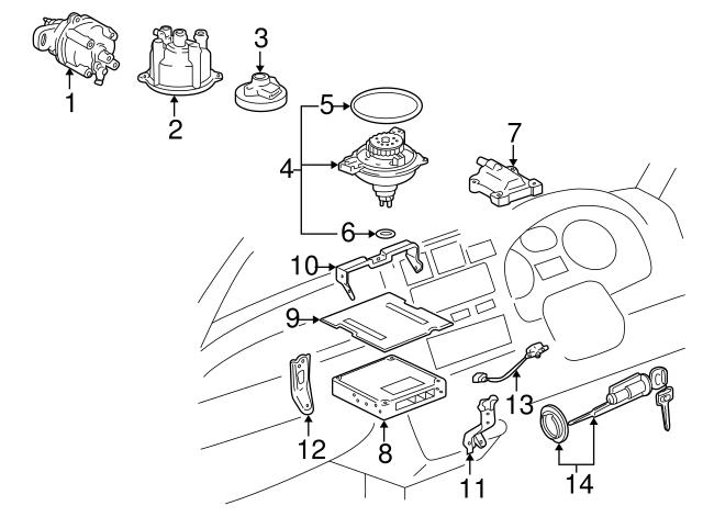1997 Toyota Rav4 Ignition Coil 19500 74120