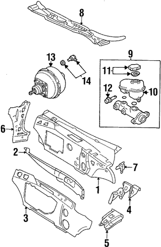 oem 1997 buick lesabre cowl parts