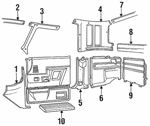 Body/Interior Trim - Cab for 1997 Ford F-350 #1