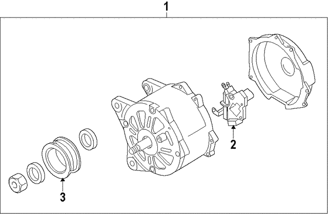 Alternator - Volkswagen (03H-903-023-D)