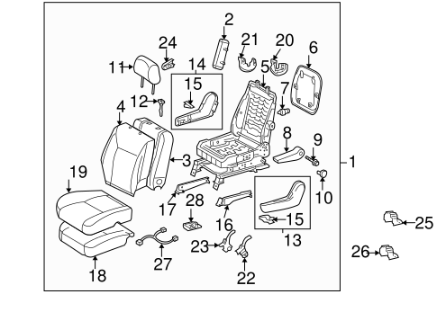 BODY/FRONT SEAT COMPONENTS for 2008 Toyota Sienna #1