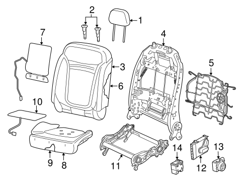 Front Seat Components for 2015 Jeep Renegade #1