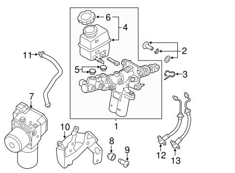 Sonata Brakes Hydraulic System Parts Sonata 2015 Hyundai