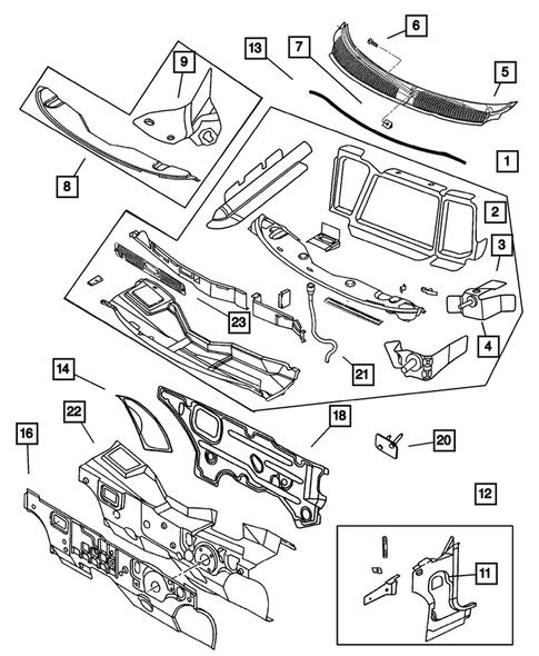 srt4 belt diagram cowl and dash panel for 2004 dodge neon big mopar parts  cowl and dash panel for 2004 dodge neon