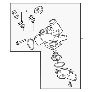 Engine Coolant Thermostat Kit - Audi (022-121-111-H)