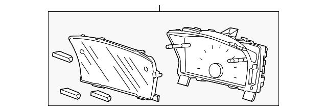 Honda Genuine 78100-TR5-A03 Combination Meter Assembly
