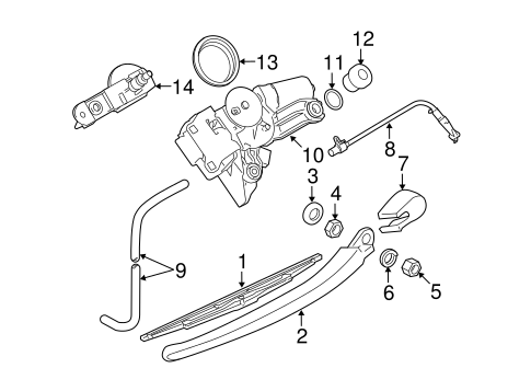 Wiper Washer Components For 2010 Bmw 535i Xdrive