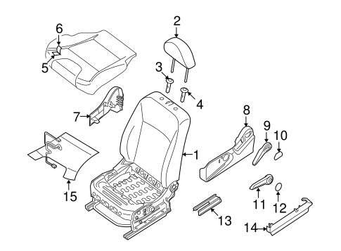 Front Seat Components for 2010 Nissan Sentra #1