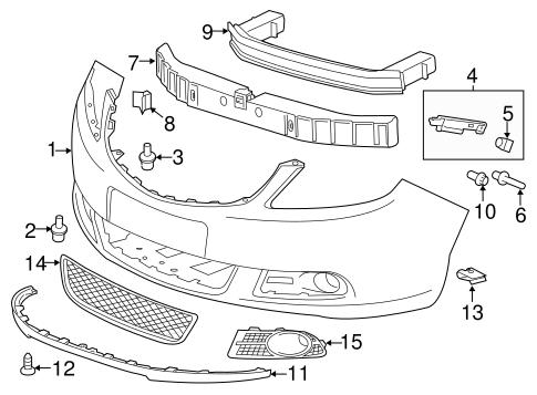 Bumper & Components - Front Parts for 2013 Buick Verano | GM Parts Club