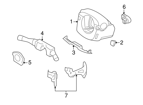 Steering/Shroud, Switches & Levers for 2015 Nissan GT-R #1