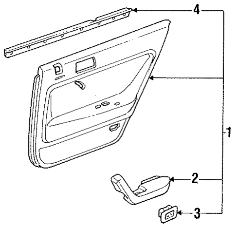 Weatherstrip, L Rear Door (Inner)