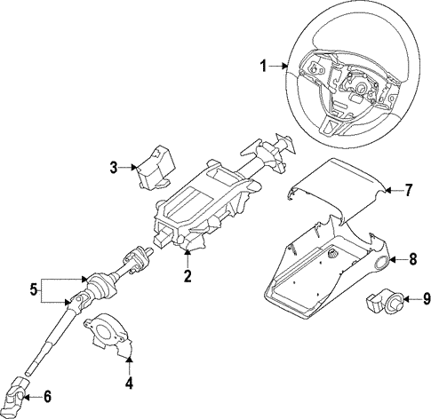 Steering Column For 2009 Jaguar Xf