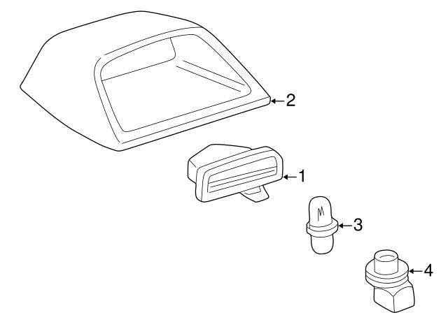 TOYOTA Genuine 81574-02070-B0 Stop Lamp Cover