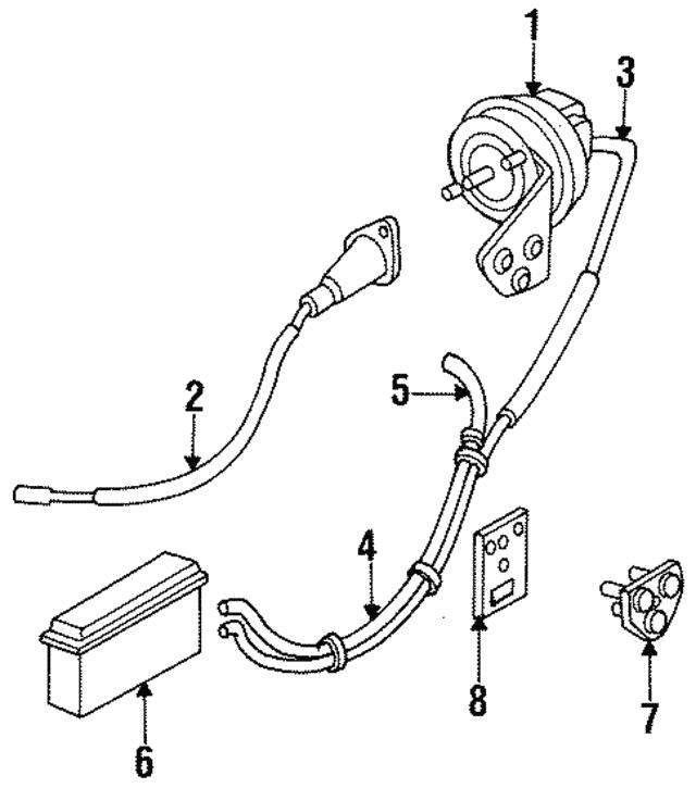1989 1995 Mopar Vacuum Hose 4104272