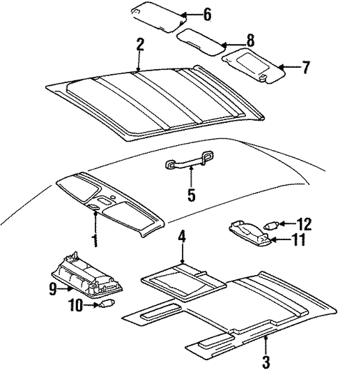 Interior Trim - Roof for 1995 Mercedes-Benz E 320 #0