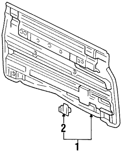 BODY/BACK PANEL for 1997 Toyota T100 #1
