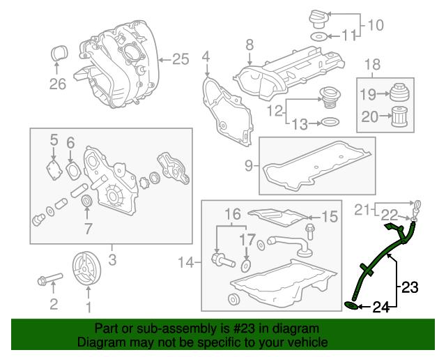 GM OEM Engine Parts-Oil Tube 12625480