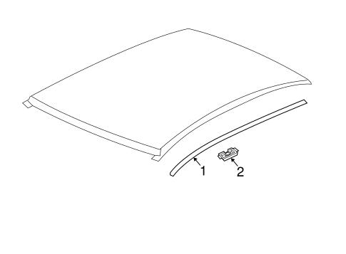 bodyexterior trim roof for 2015 buick verano 1