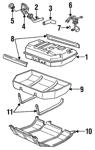 oem 1999 chevrolet tahoe fuel system components parts. Black Bedroom Furniture Sets. Home Design Ideas