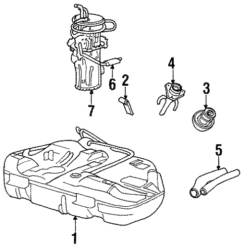 Fuel System Components For 1997 Lincoln Continental