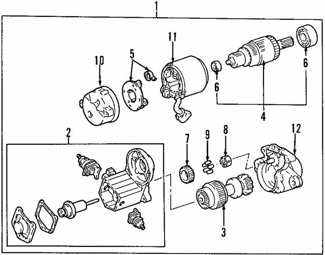 1998 2000 Toyota Rav4 Starter 28100 74280 84