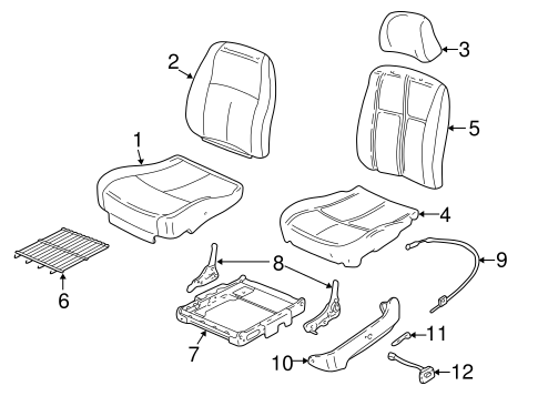 body/front seat components for 2003 chevrolet malibu