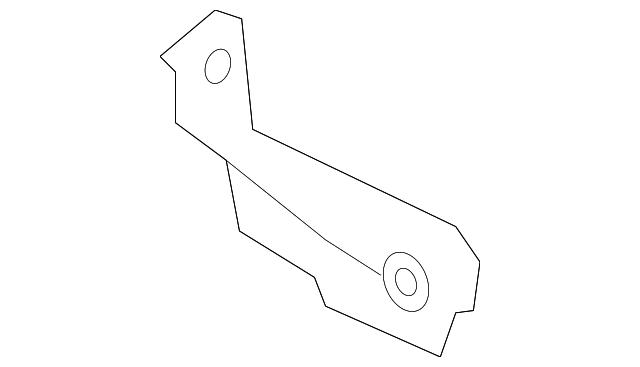 HYUNDAI Genuine 86861-1E200 Deflector Guard Assembly Rear Left