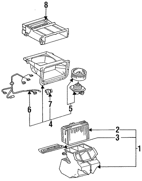 Evaporator Components For 1997 Toyota Previa