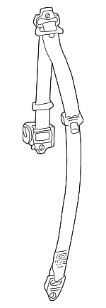 Belt & Retractor - Land-Rover (EVB000820LNF)