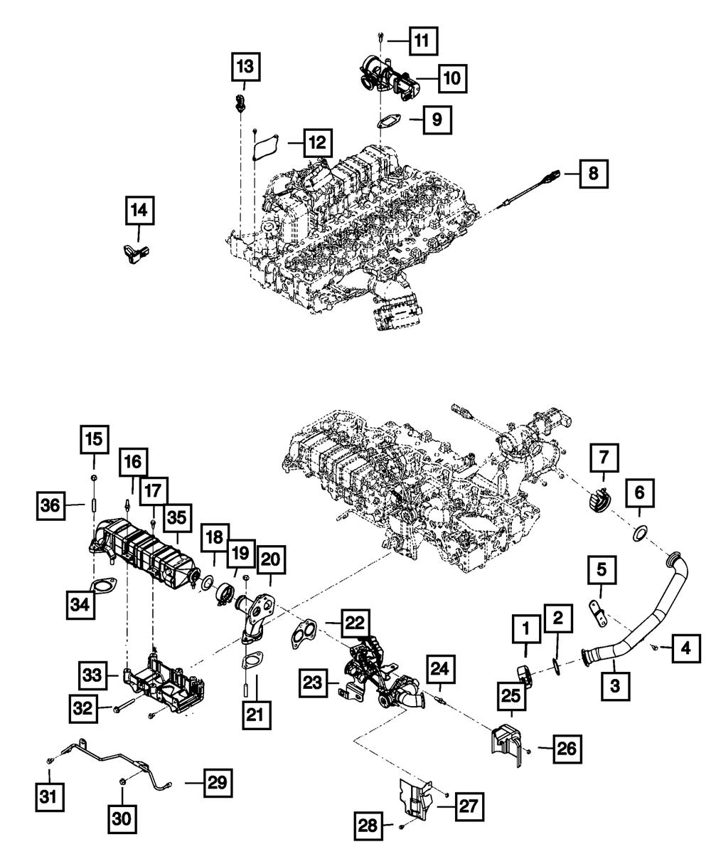 EGR Valve Gasket 68005184AA Genuine Chrysler