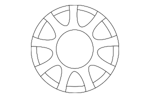 Wheel, Alloy - Mazda (9965-E5-6050)