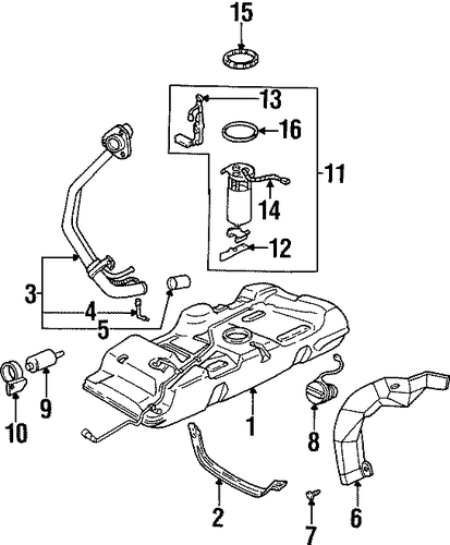 fuel system components for 1998 oldsmobile silhouette