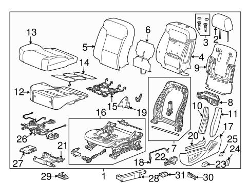 oem 2017 chevrolet silverado 1500 driver seat components. Black Bedroom Furniture Sets. Home Design Ideas