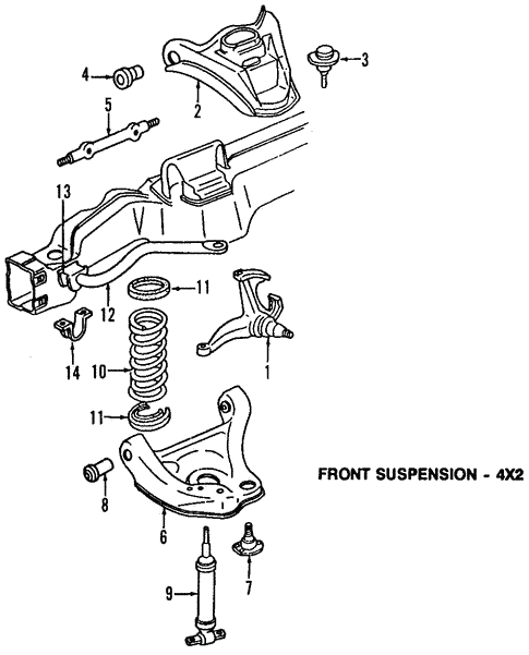 2 Front Upper Ball Joints for Chevrolet GMC Blazer Suburban Express 1500 Safari