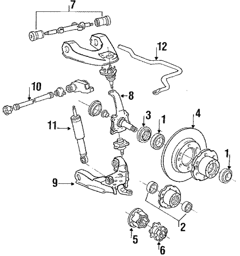Front Suspension For 1986 Toyota Pickup
