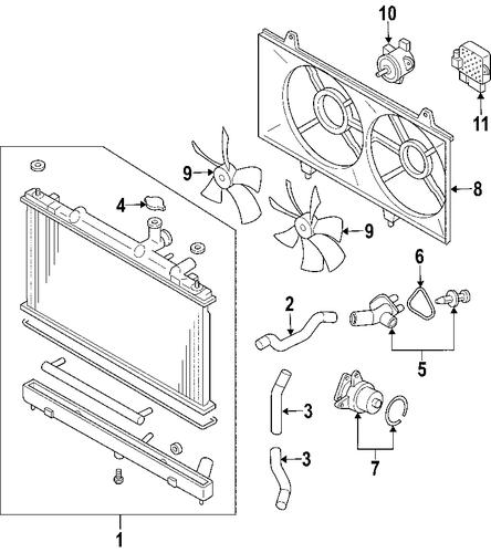 radiator components for 2006 mazda 6 oem auto partz mazda. Black Bedroom Furniture Sets. Home Design Ideas