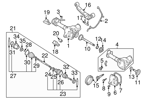 Carrier Front Axles For 2004 Nissan Frontier