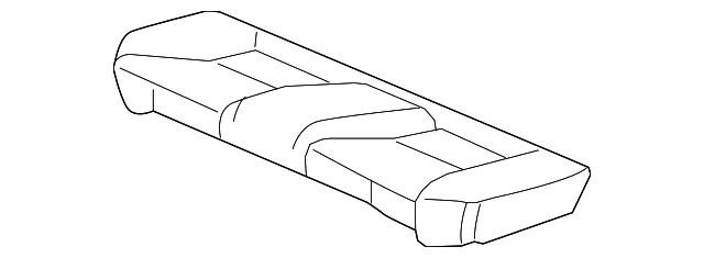 Rear Honda Genuine 82131-T2F-A41ZB Seat Cushion Trim Cover
