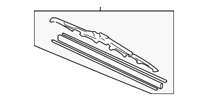 Blade, Windshield Wiper - Honda (76620-SHJ-A12)